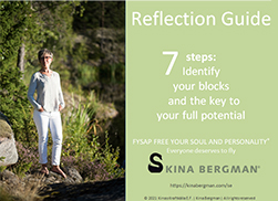 """Register today for your free Reflection Guide """"7 steps: Identify your blocks and the key to your full potential""""."""