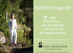 """Registrera dig idag för din Reflektionsguide """"7 steg: Identifiera dina blockeringar och nyckeln till din högsta potential""""."""